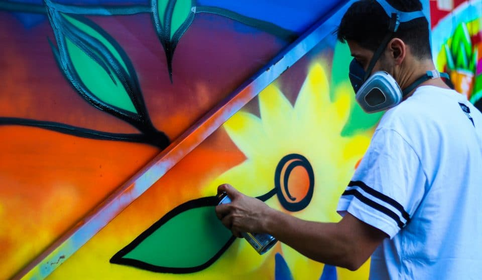 Discover The Secrets Of Urban Art While Sipping On Drinks At This BYOB Spray Paint 'N' Sip Workshop