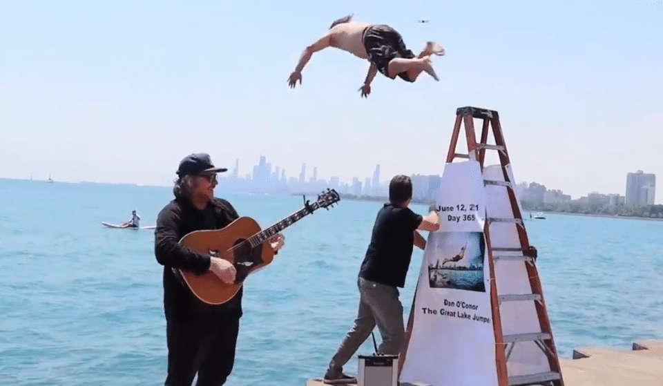 The Great Lake Jumper Has Now Plunged Into Lake Michigan For 365 Days To Relieve His Covid Angst