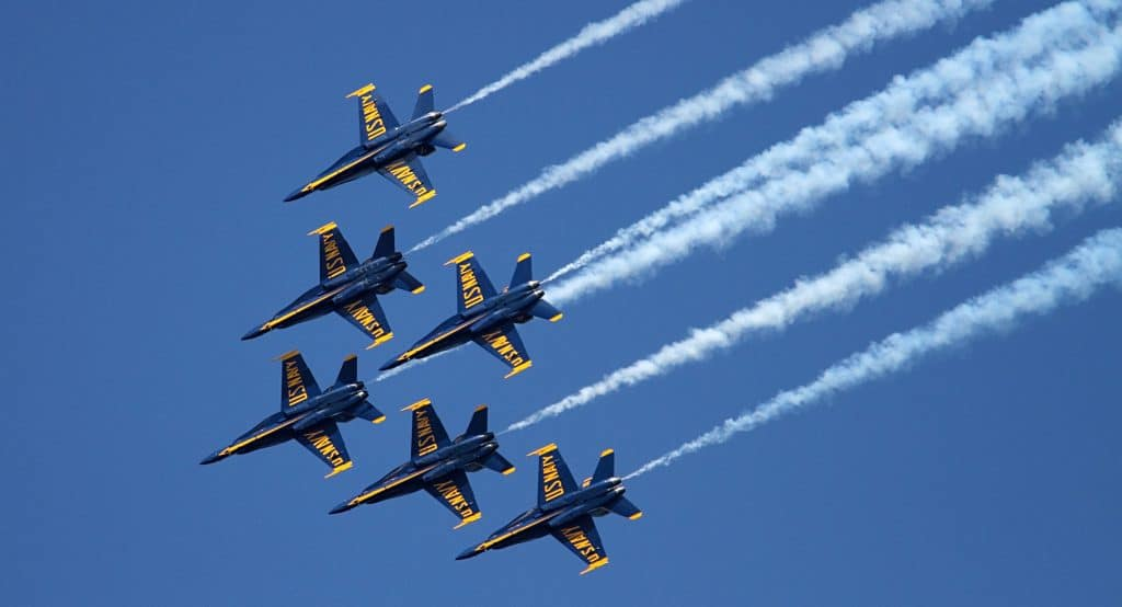 The Chicago Air And Water Show Is Returning With A Special U.S. Navy Blue Angels Solo Demonstration