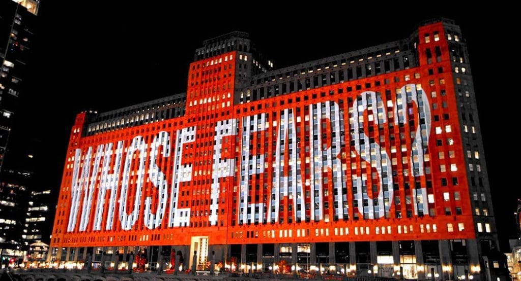 Art On TheMART Has Began Its Fall Program Featuring Works By Conceptual Artist Barbara Kruger