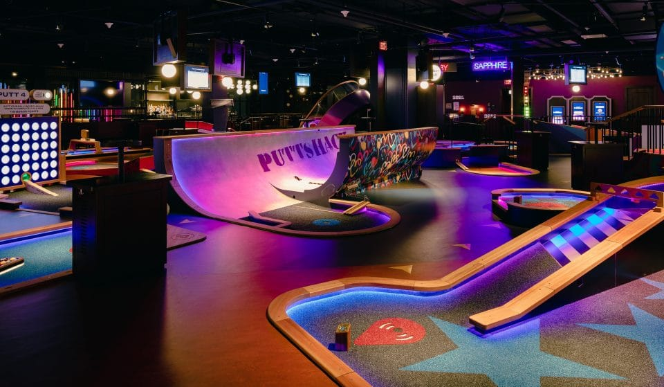 A Gigantic Tech-Infused Mini Golf Concept Bar Will Open In Oakbrook Center Next Month