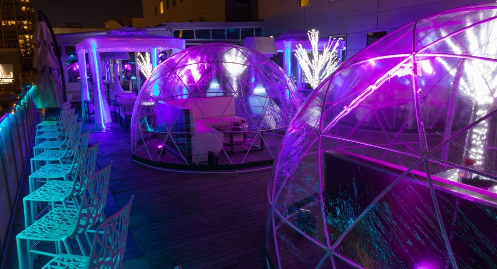 River North's Godfrey Hotel Is Bringing Back Its Haunted Rooftop Igloos For An 'Asylum' Halloween Party