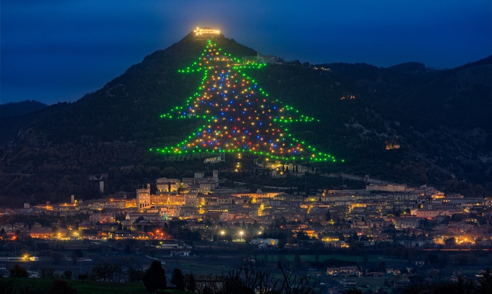 You Can Adopt A Light On The World's Largest Mountainside Christmas Tree In Italy