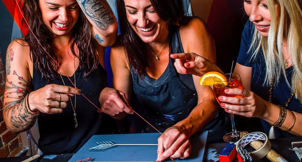 Create A DIY Masterpiece At This Boozy Workshop Bar • Upstairs Circus