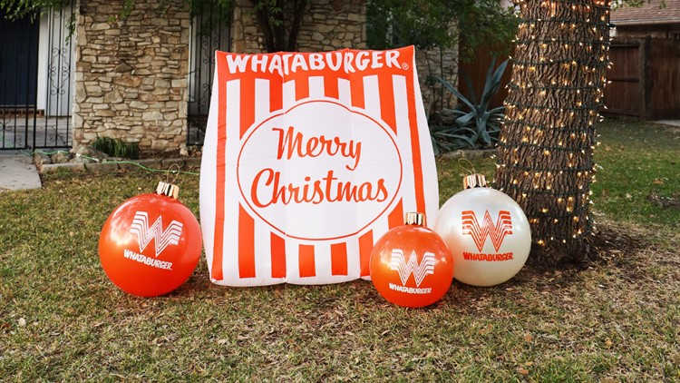 Inflate Your Holiday Yard Game With These Giant Whataburger Ornaments