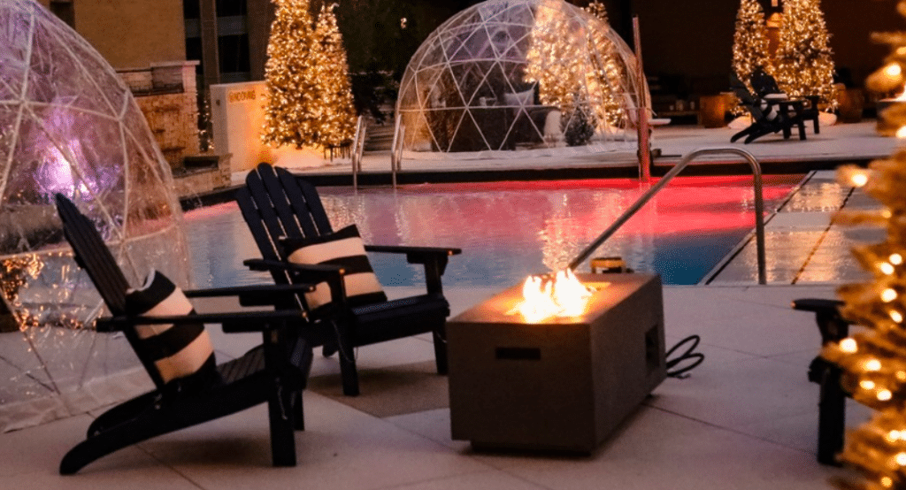 Miracle Pop-Up Opens With Curling And Igloo Cabanas At The Adolphus Hotel Rooftop