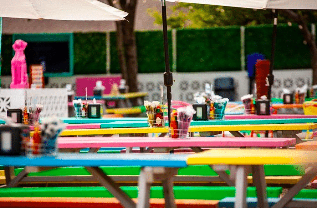 This Funky Patio In Uptown Is A Vibrant And Winterproof Oasis