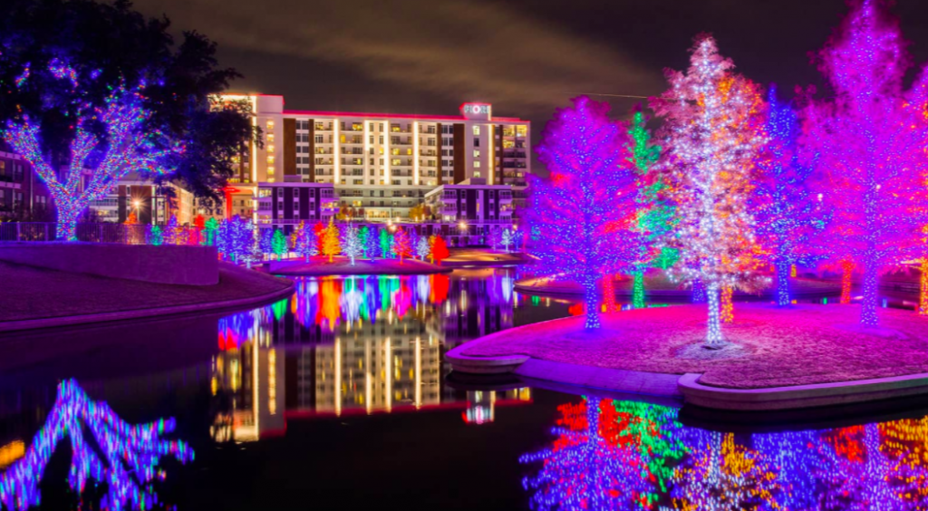 Behold Vitruvian Park In Addison's Magnificent Lighting Display