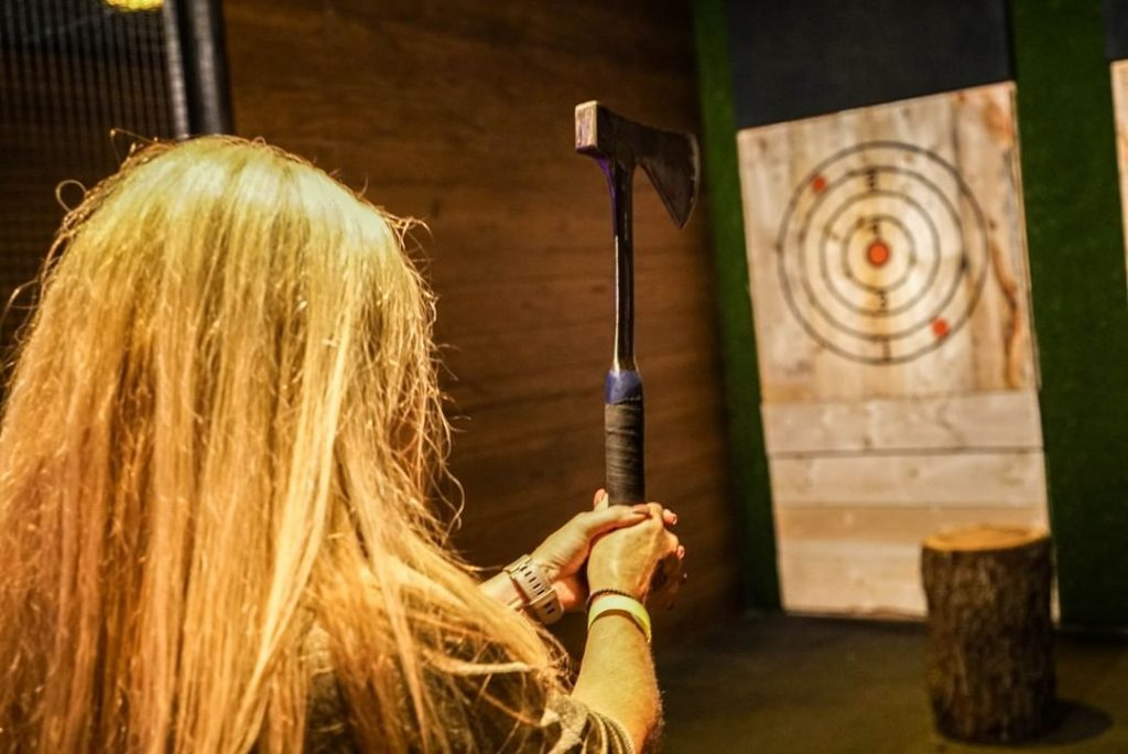 A New Axe Throwing Bar Is Opening In Ivy City