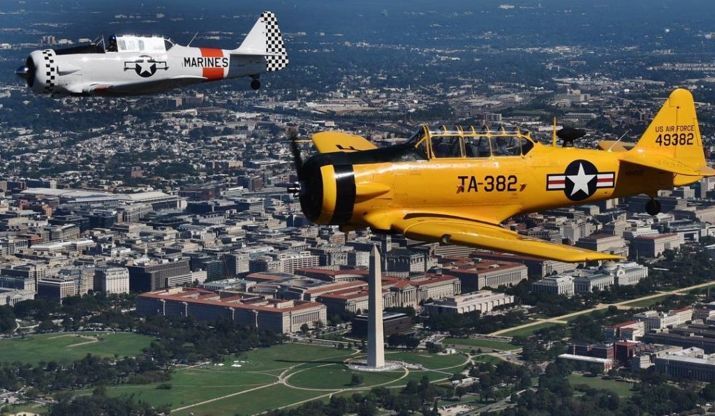 WWII Flyover DC 2020