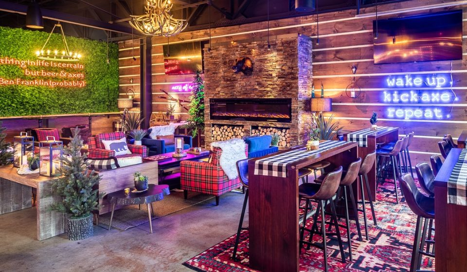 Give Target Practice Your Best Shot At This Axe-citing Bar In Ivy City • Kick Axe Throwing