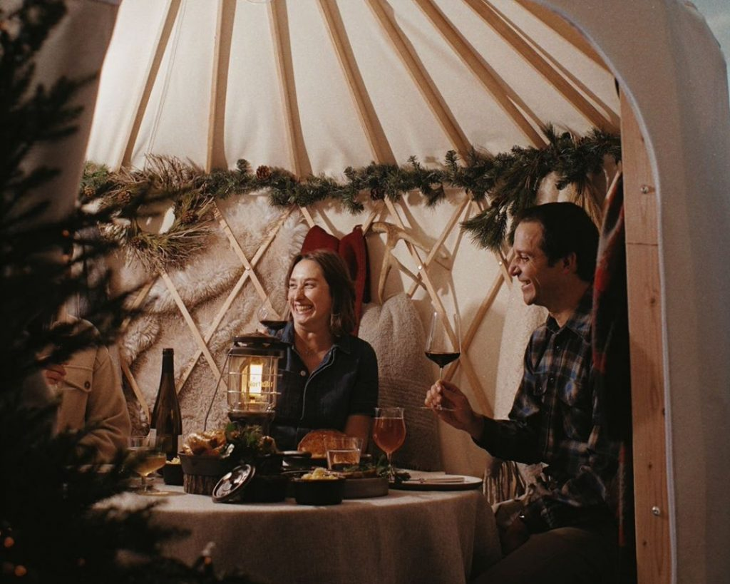 This Michelin-Starred Restaurant Has Set Up The Cutest Yurts For Outdoor Dining