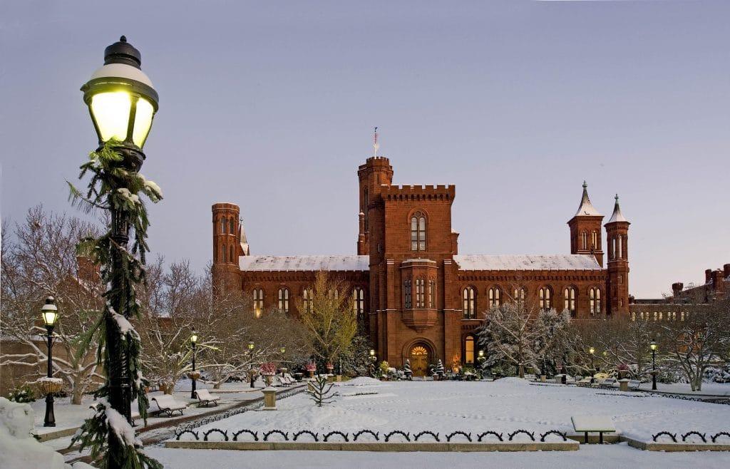 Smitshonian Castle Snow