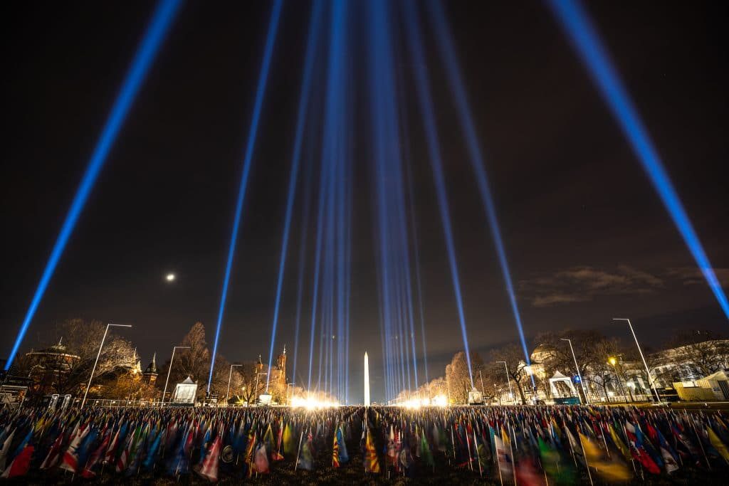 200,000 Flags Have Been Installed On The National Mall To Represent All Inauguration Attendees
