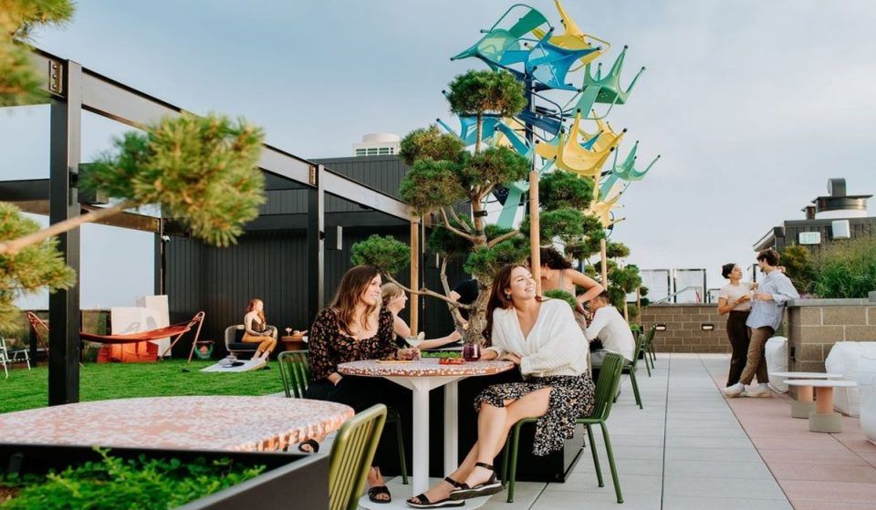 This New Rooftop Bar Is Like Going To A Backyard BBQ–Only This One Has Panoramic Skyline Views