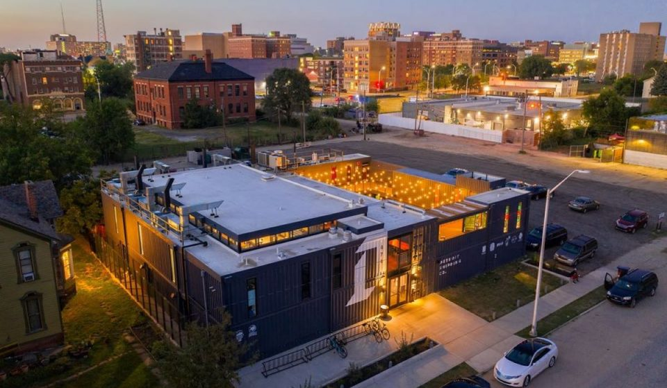 Dine And Sip In Repurposed Shipping Containers At This Unique Detroit Food Hall