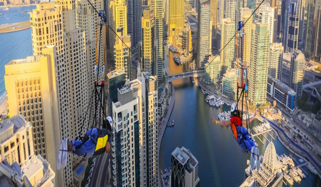 Discover the World's Longest Urban Zipline in Dubai Marina