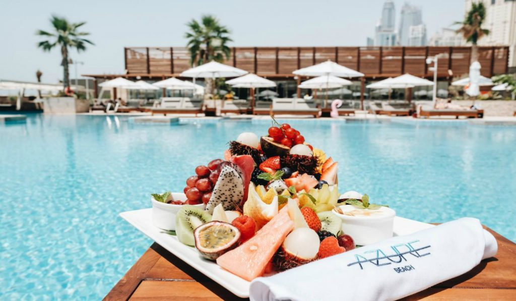 Ibiza Inspired Pool Party at Azure Beach Club in Dubai