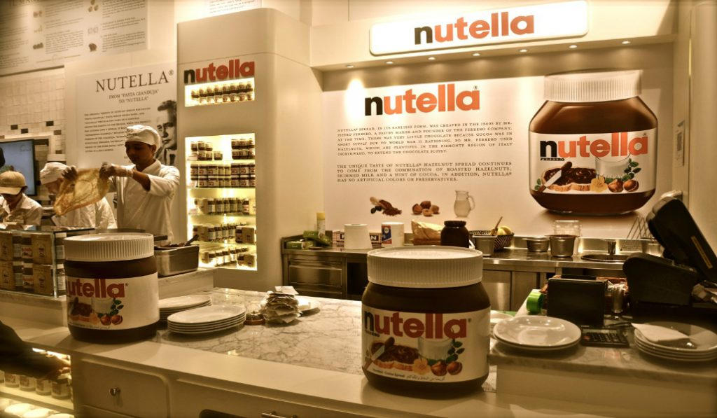 Recently Opened Nutella Cafe in the Dubai Airport