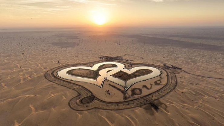 Spotted: Heart Shaped Lake in Dubai