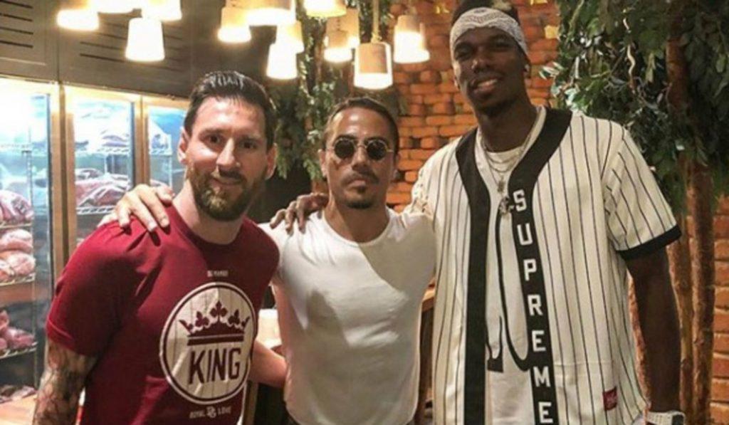 Pogba & Messi Visit Salt Bae's Steakhouse in Dubai