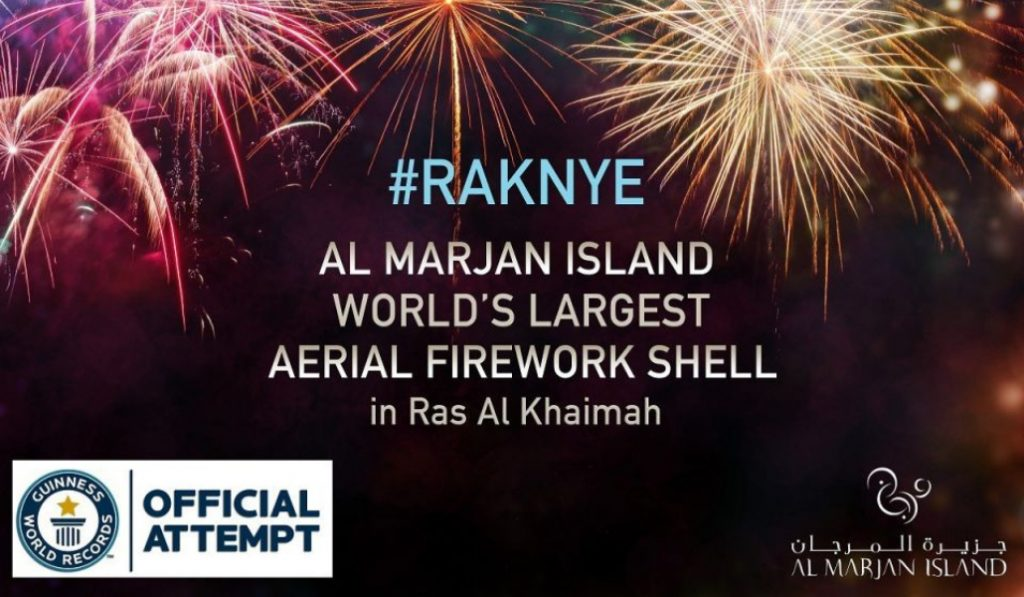 The NYE Fireworks in Ras Al Khaimah plan to break another world record
