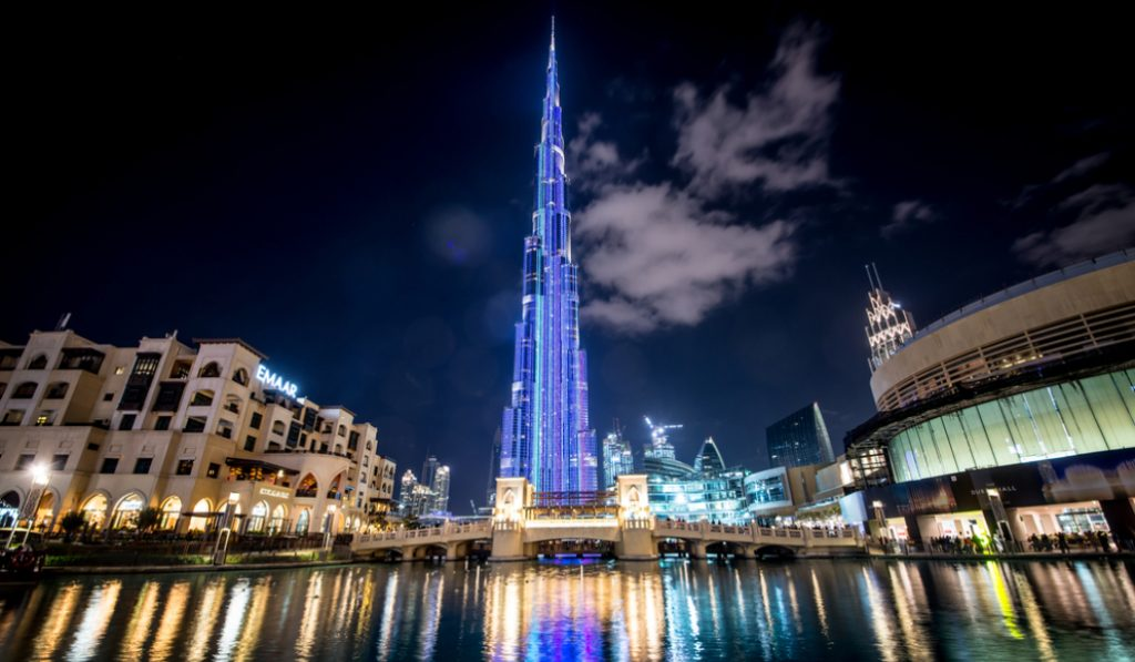 The Burj Khalifa light & laser show will be up until March 31st