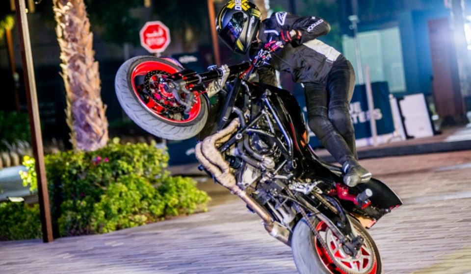 Check out this video of some crazy motorbike stunts at Bluewaters
