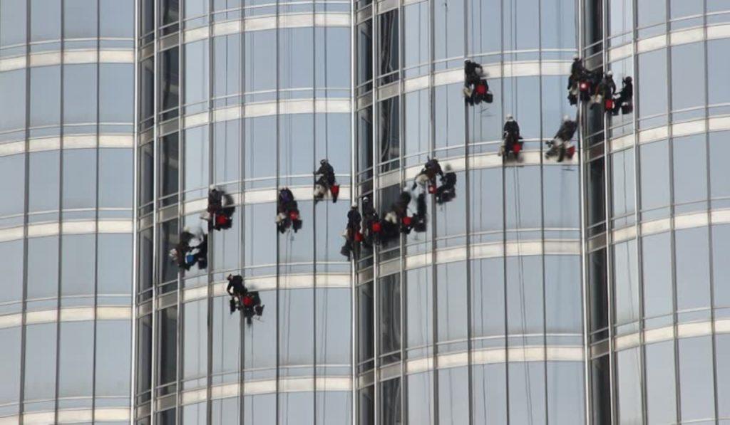 Ever wonder how the windows at Burj Khalifa stay so shiny?
