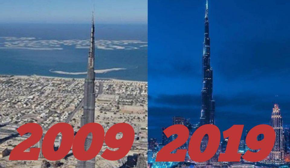 Burj Khalifa #10yearchallenge glow up