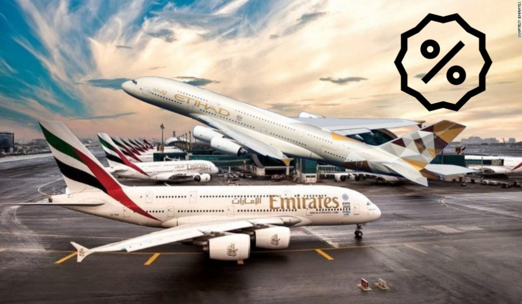 Crazy sales on Emirates & Etihad this month