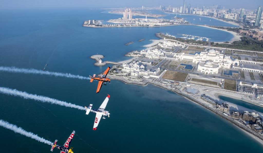 Red Bull Air Race opening in Abu Dhabi