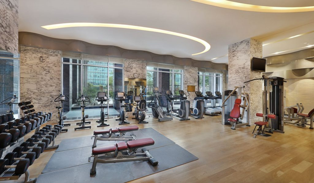 A massive fitness centre just opened in Meydan