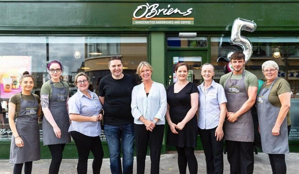 Bags of O'Briens Sandwiches Were Left For The Homeless In Honour Of St Patrick's Day