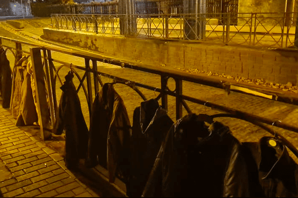 Heart-Warming Gesture Sees Dubliners Hang Their Coats Over Connolly Bridge For The Homeless