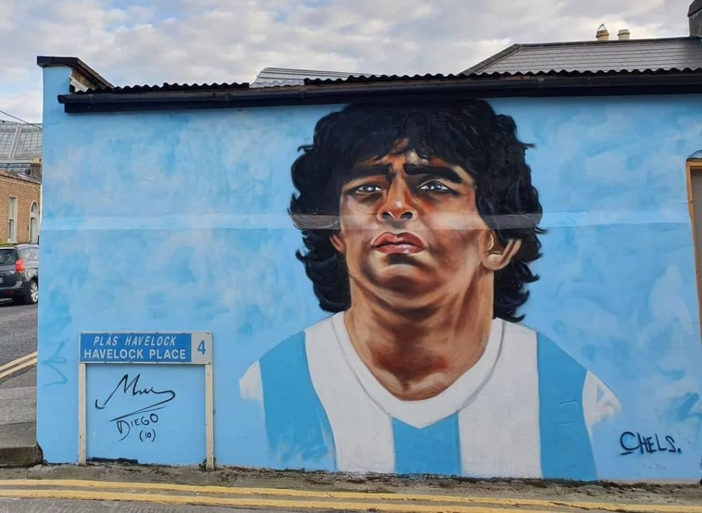 A Lovely Mural To The Late, Great Diego Maradona Has Appeared In Dublin