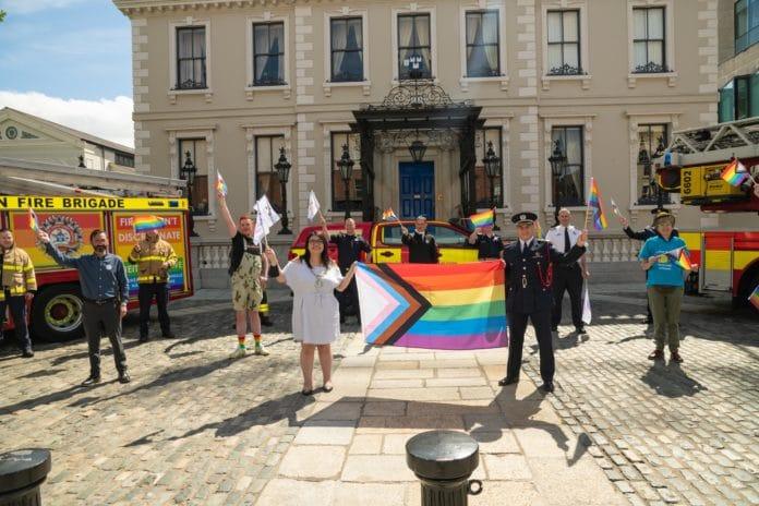 Dublin Fire Brigade Reveals Truck In Pride Colours For The Rest Of The Month
