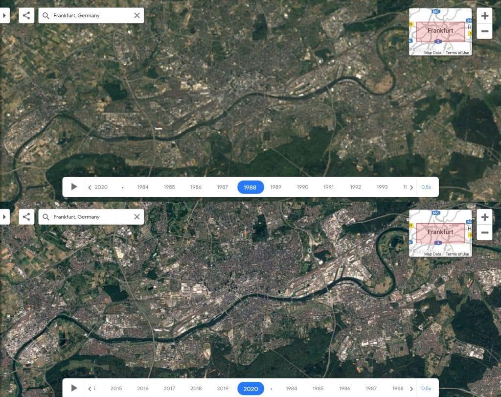 So hat sich Frankfurt in den letzten 40 Jahren verändert
