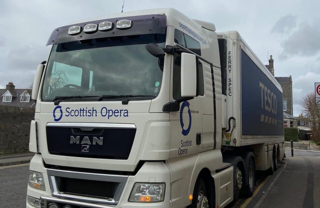 Scottish Opera Has Repurposed Its Fleet Of Lorries To Help Restock Tesco Supermarkets