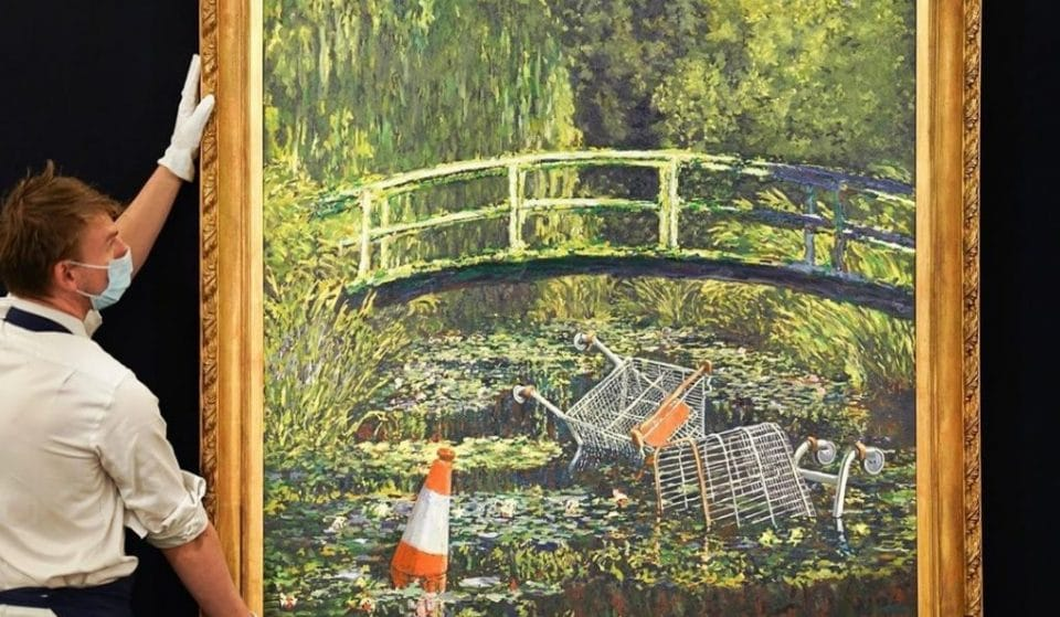 Banksy's 'Show Me The Monet' Painting Is On Sale Next Month, And It May Rake In A Whopping £5 Million