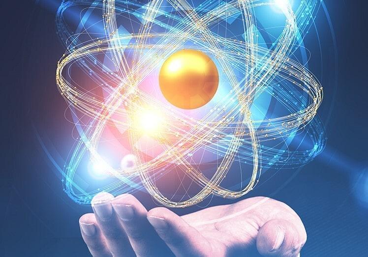 atom physics hand