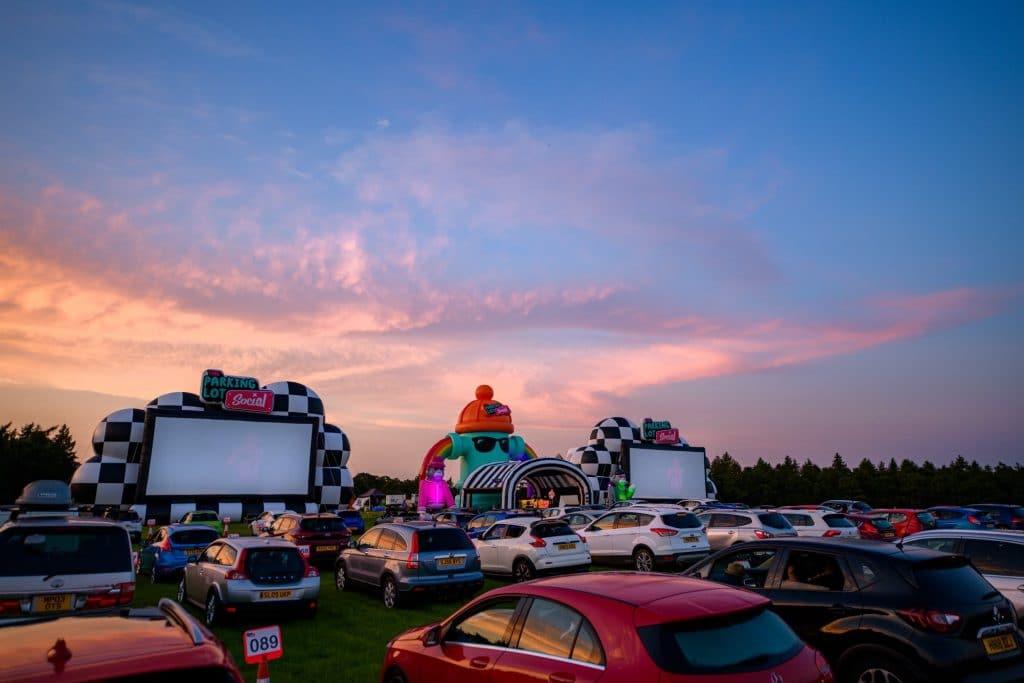 parking lot social drive in cinema glasgow
