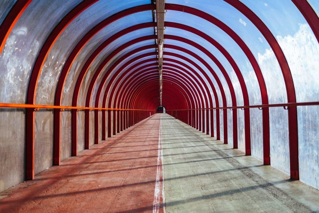 glasgow empty lockdown smartie tube tunnel