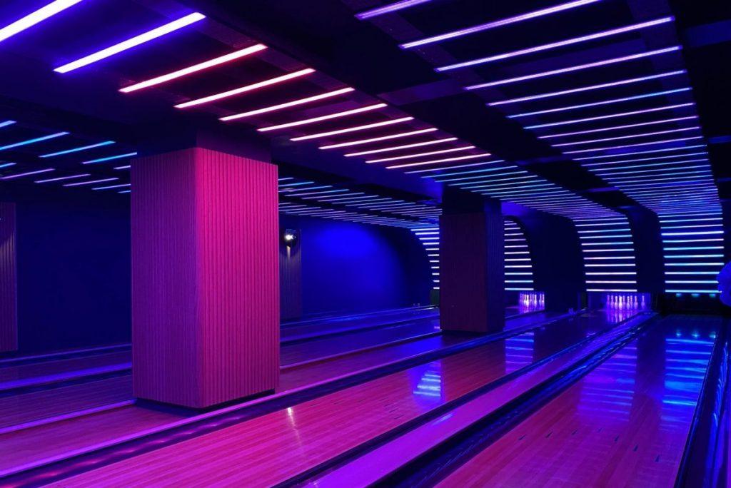 VEGA Neon-Lit Bowling Alley