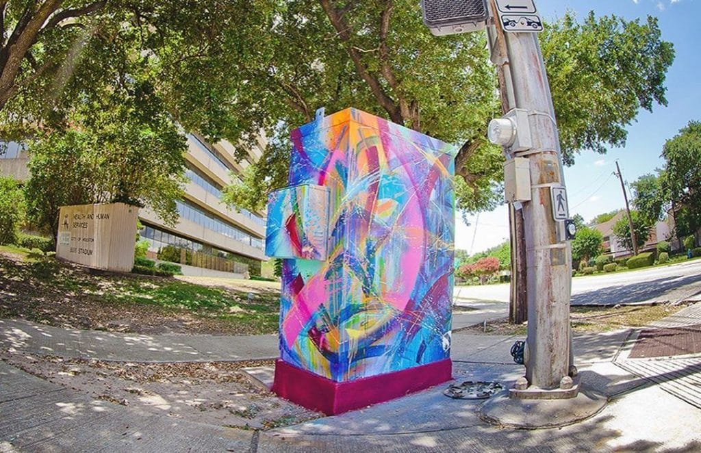 Over 200 Houston Utility Boxes Have Been Adorned With Cute Mini Murals