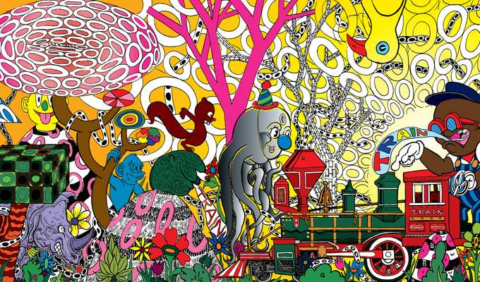 Experience A Psychedelic Odyssey Only Accessible By Train •  Destination: Mound Town