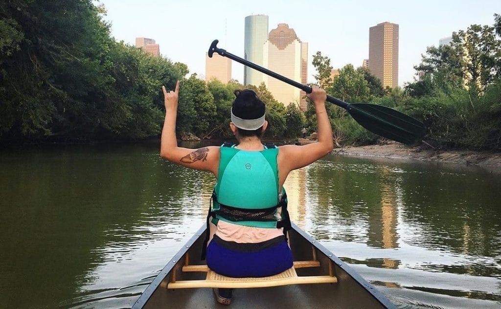 Canoe The Buffalo Bayou In Houston