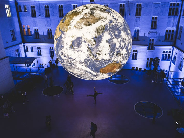 This Giant Floating Earth Exhibit Will Make You See Our Planet As If For The First Time