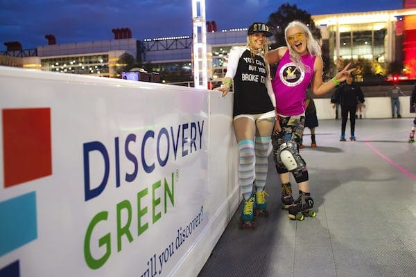 Discovery Green Is Opening An Outdoor Roller Rink At The Foot Of The Houston Skyline