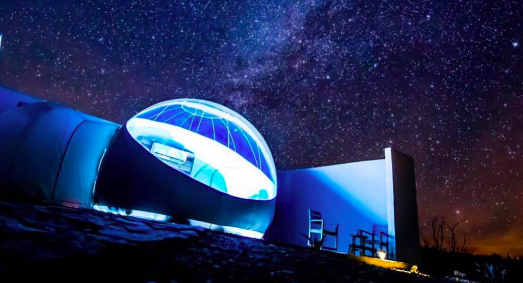 These Stargazing Bubbles In Texas Take Glamping To Another Dimension